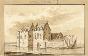 Voor- en rechterzijde van de overblijfselen van Nijeveld