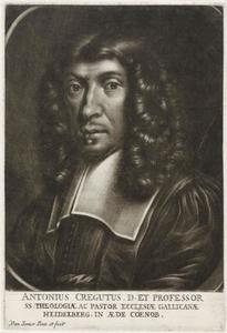 Portret van de Heidelbergse theoloog Antonius Cregutus