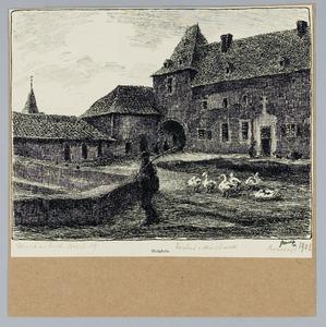Slotplein van het kasteel te Hoensbroek