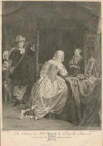 Jager toont zijn vangst aan twee vrouwen