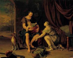 De herder Mitridates toont de jonge Cyrus aan zijn vrouw