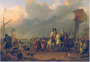 De aankomst van koning-stadhouder Willem III in de Oranjepolder, 31 januari 1691
