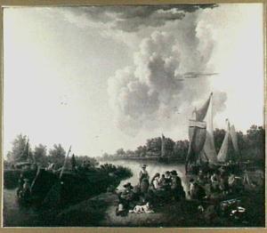 Zwitserse emigranten bij aan de Mijl te Dordrecht in 1819
