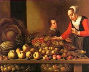 De druivenverkoopster
