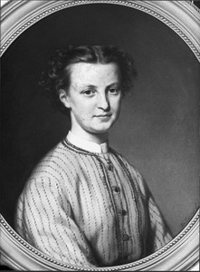 Portret van Neeltje de Wit (1847-1908), gehuwd met Nicolaas Wybrands