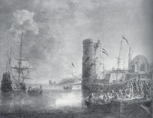 Schepen in een zuidelijke haven