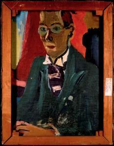 Portret van Johan van Zweden (1896-1975) (op de voorzijde een 'Zittend naakt')