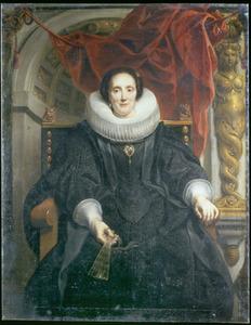 Portret van Catharina Behaghel (1597-1666)
