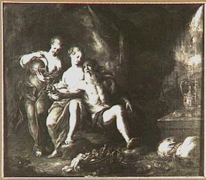 Lot dronken gevoerd door zijn dochters (Genesis 19:33-34)