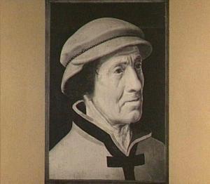Portret van een oude man met baret