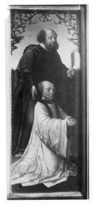 De H. Bartholomeüs met een stichter (op de buitenzijde de H. Andreas, in grisaille)