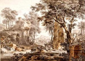 Landschap met de rust op de vlucht naar Egypte