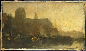 Schepen in de haven van Dordrecht