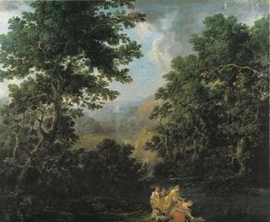 Landschap met het vinden van Mozes