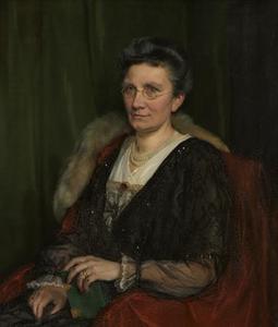 Portret van Mathilde Emmy (Emmy) Heegmann (1862-1939)
