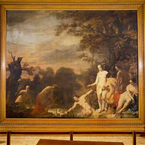 De dochter van farao vindt Mozes in het biezen mandje (Exodus 2:5-7)