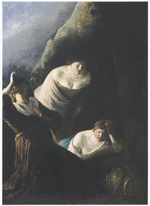 De dochters van Cecrops vinden het slangenkind Erichthonius