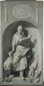 Voorstelling van Ninus, mythische stichter van Nineve