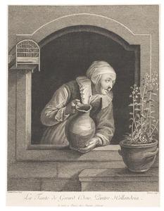La Tante de Gerard Dow, Peintre Hollandoia.