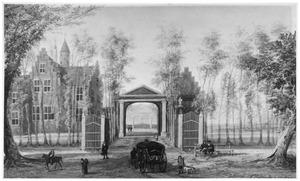 Linker- en voorzijde van Nuyssenburg (of Oud-Nuyssenburg) bij Haarlem