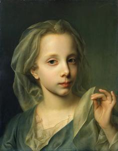 Geïdealiseerd portrtet van een jong meisje