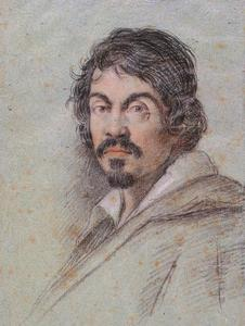 Portret van de Italiaanse schilder Michelangelo Merisi da Caravaggio (1571-1610)