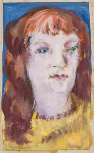 Jonge vrouw met gele trui