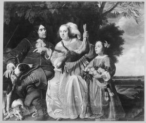 Portret van Jochem Aras (...-1662) en Elisabeth Claes Loenen met hun dochter Maria van As (1644-1684)