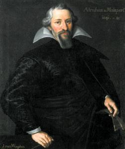 Portret van Abraham de Malapert (1578-1645), zijdehandelaar te Frankfurt am Main
