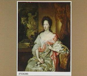 Portret van een vrouw  met rozen in haar hand