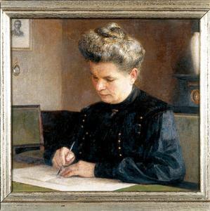 Portret van Margo de Lange (1860-1938)
