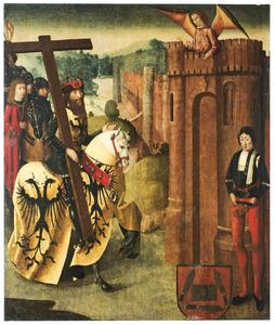 Keizer Heraclitus te paard met het Ware Kruis wordt de toegang tot Jerusalem geweigerd