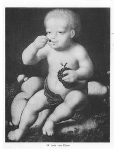 Het Christuskind, druiven etend