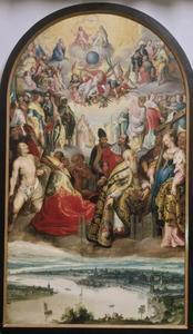 Verheerlijking van de H. Drie-eenheid door heiligen van de stad Keulen