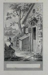 Illustratie bij 'De leeuwerik en de nachtegaal' uit de Fabelen en vertelsels van F.C. Gellert