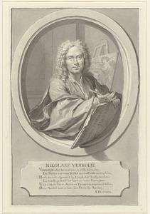 Zelfportret van Nicolaas Verkolje (1673-1746)