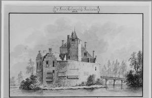 Achterzijde van de ridderhofstad Ruwiel bij Breukelen