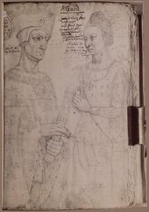Lodewijk XI (?) en zijn tweede vrouw Charlotte van Savoie (?)