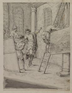 Tiberius Sempronius Gracchus laat schilderijen ophangen in de tempel als wijgeschenk aan Jupiter
