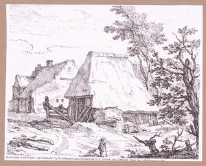 Dorpstraat met boerderijen