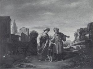 De verstoting van Hagar (Genesis 21: 14)