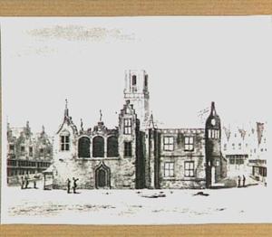 Ruïne van het stadhuis te Delft, na de brand van 1618