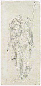 Treurende engel met lans