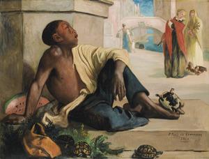 Schildpadverkoper in Venetië