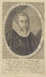 Portret van Johannes Huninga (....-1630)