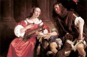 Portret van een onbekend echtpaar als Odysseus en Penelope