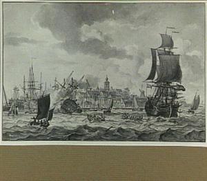Batavia, schepen die op de rede liggen