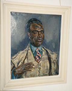 Portret van een zwarte man in pak