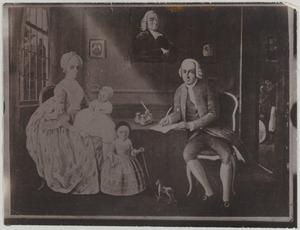 Portret van Claas Veeckens (1741-1793) en zijn gezin