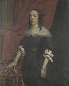 Portret van een vrouw, wellicht Anna van Bourgondië, stichtster van Slot Windenburg op Dryschor (Schouwen); echtgenote van Adolf van Kleef